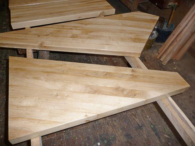 Massivholztreppenstufen von Holz Kausche