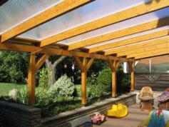 Terrassenüberdachung / Holz Kausche Fallersleben