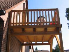 Balkonvorbauten von Holz Kausche